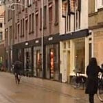 Shops at the Folkingestraat in Groningen