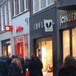 Shops in the Kalverstraat in Amsterdam