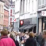 Shops at the Grote and Kleine straat in Maastricht